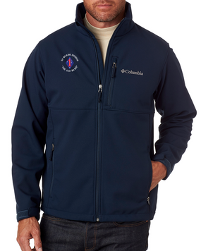 """1st Marine Division """"Old Breed"""" -C-Embroidered Columbia Ascender Soft Shell Jacket"""