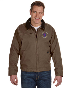 "1st Marine Division ""Old Breed"" -C-Embroidered DRI-DUCK Outlaw Jacket"