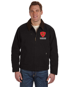 "3rd Marine Division ""Fighting Third"" Embroidered DRI-DUCK Outlaw Jacket"