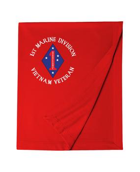 """1st Marine Division """"Vietnam"""" -C- Embroidered Dryblend Stadium Blanket"""