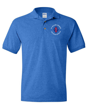 "1st Marine Division ""Vietnam"" -C- Embroidered Cotton Polo Shirt"