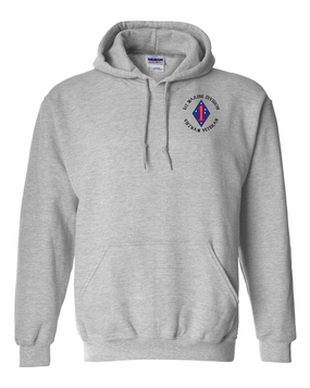 "1st Marine Division ""Vietnam"" -C- Embroidered Hooded Sweatshirt"