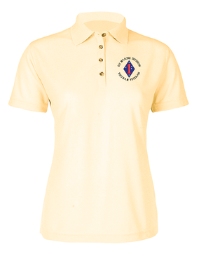 "1st Marine Division ""Vietnam"" -C- Ladies Embroidered Moisture Wick Polo Shirt"