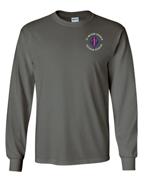 "1st Marine Division ""Vietnam"" -C- Long-Sleeve Cotton T-Shirt"