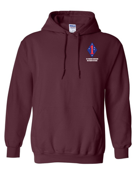 "1st Marine Division ""Vietnam"" Embroidered Hooded Sweatshirt"
