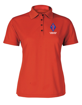 "1st Marine Division ""Vietnam""  Ladies Embroidered Moisture Wick Polo Shirt"