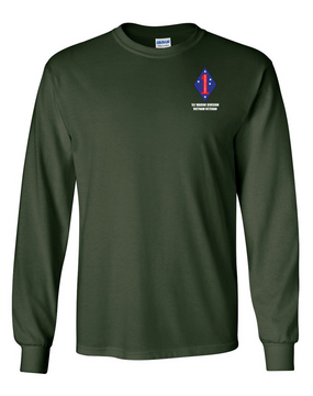"1st Marine Division ""Vietnam""  Long-Sleeve Cotton T-Shirt"