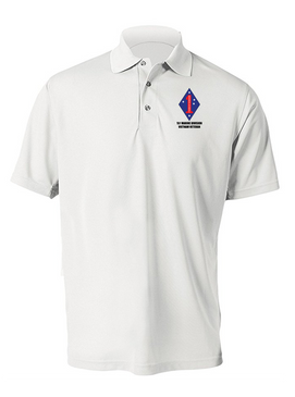 "1st Marine Division ""Vietnam""  Embroidered Moisture Wick Polo Shirt"
