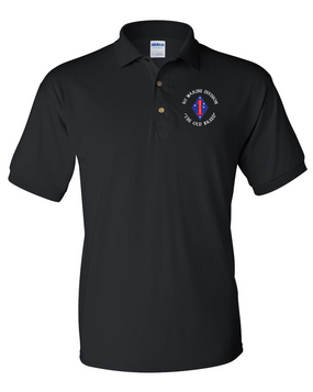 "1st Marine Division ""Old Breed""-C- Embroidered Cotton Polo Shirt"