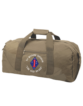 "1st Marine Division ""Old Breed""-C- Embroidered Duffel Bag"