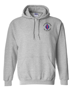 "1st Marine Division ""Old Breed""-C- Embroidered Hooded Sweatshirt"