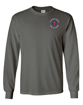 "1st Marine Division ""Old Breed""-C-  Long-Sleeve Cotton T-Shirt"