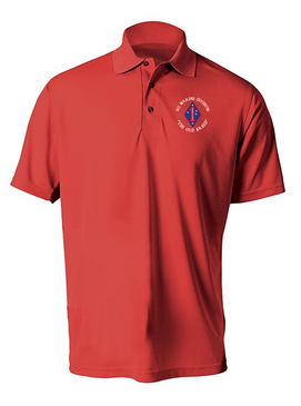 "1st Marine Division ""Old Breed""-C-  Embroidered Moisture Wick Polo Shirt"