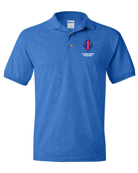"1st Marine Division ""Old Breed"" Embroidered Cotton Polo Shirt"