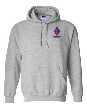 "1st Marine Division ""Old Breed"" Embroidered Hooded Sweatshirt"