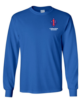 "1st Marine Division ""Old Breed"" Long-Sleeve Cotton T-Shirt"