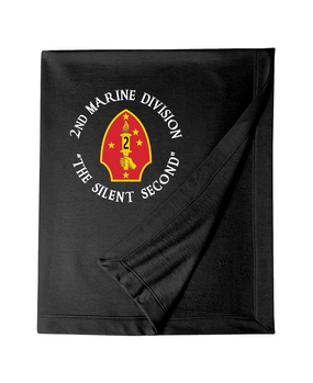 "2nd Marine Division ""Silent Second""-C-  Embroidered Dryblend Stadium Blanket"