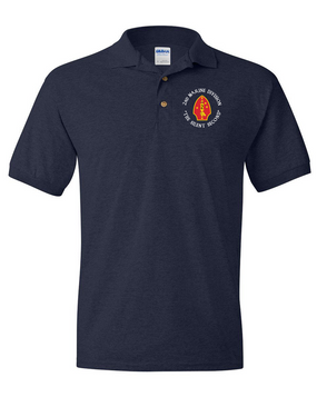 "2nd Marine Division ""Silent Second""-C-  Embroidered Cotton Polo Shirt"