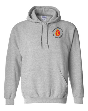 "2nd Marine Division ""Silent Second""-C-  Embroidered Hooded Sweatshirt"