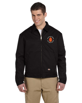 "2nd Marine Division ""Silent Second""-C-  Embroidered Dickies 8 oz. Lined Eisenhower Jacket"