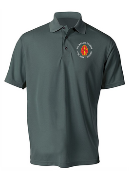 "2nd Marine Division ""Silent Second""-C-  Embroidered Moisture Wick Polo Shirt"