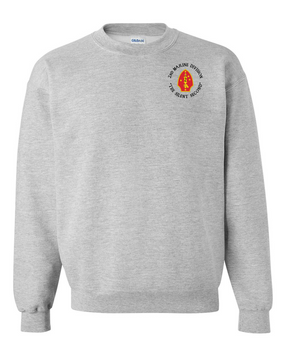 "2nd Marine Division ""Silent Second""-C- Embroidered Sweatshirt"