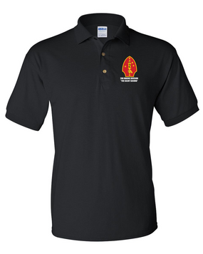 "2nd Marine Division ""Silent Second"" Embroidered Cotton Polo Shirt"