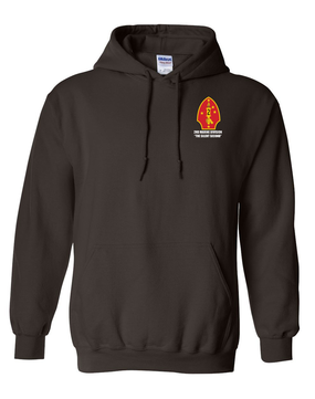 "2nd Marine Division ""Silent Second"" Embroidered Hooded Sweatshirt"