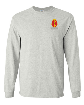 "2nd Marine Division ""Silent Second"" Long-Sleeve Cotton T-Shirt"