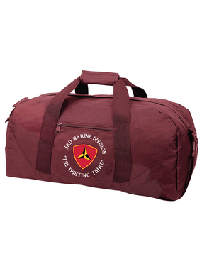 "3rd Marine Division ""Fighting Third""-C-  Embroidered Duffel Bag"