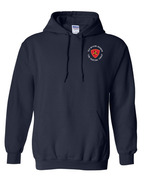 "3rd Marine Division ""Fighting Third""-C-  Embroidered Hooded Sweatshirt"