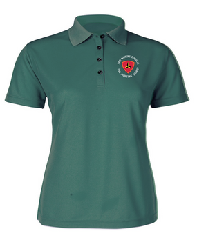 "3rd Marine Division ""Fighting Third""-C-   Ladies Embroidered Moisture Wick Polo Shirt"