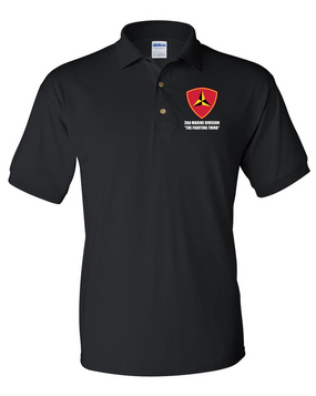 "3rd Marine Division ""Fighting Third"" Embroidered Cotton Polo Shirt"