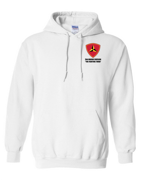 "3rd Marine Division ""Fighting Third""  Embroidered Hooded Sweatshirt"