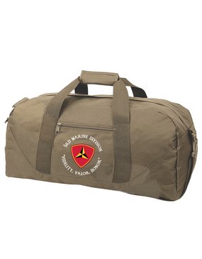 "3rd Marine Division ""Honor""-C-   Embroidered Duffel Bag"