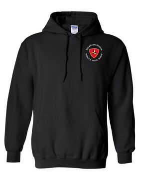 "3rd Marine Division ""Honor""-C-   Embroidered Hooded Sweatshirt"