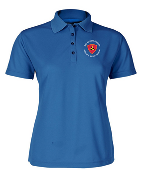 "3rd Marine Division ""Honor""-C-  Ladies Embroidered Moisture Wick Polo Shirt"