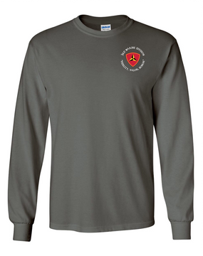 "3rd Marine Division ""Honor""-C-  Long-Sleeve Cotton T-Shirt"