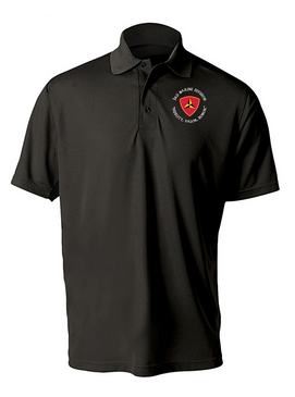 "3rd Marine Division ""Honor""- C- Embroidered Moisture Wick Polo Shirt"