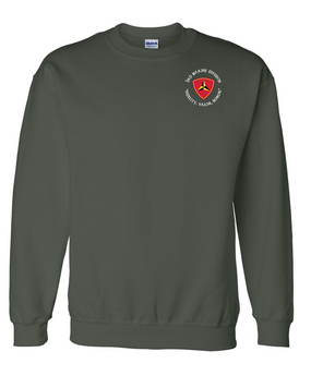"3rd Marine Division ""Honor""-C-  Embroidered Sweatshirt"