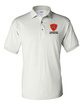 "3rd Marine Division ""Honor"" Embroidered Cotton Polo Shirt"