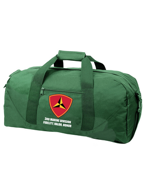 "3rd Marine Division ""Honor"" Embroidered Duffel Bag"