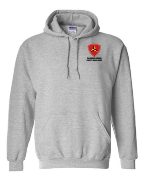 "3rd Marine Division ""Honor"" Embroidered Hooded Sweatshirt"