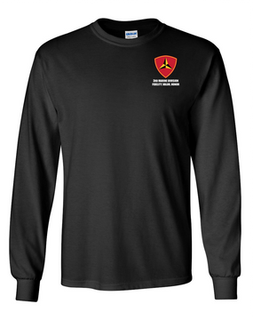 "3rd Marine Division ""Honor"" Long-Sleeve Cotton T-Shirt"