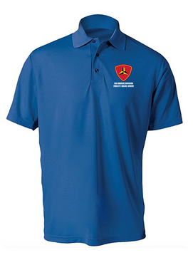 "3rd Marine Division ""Honor""Embroidered Moisture Wick Polo Shirt"