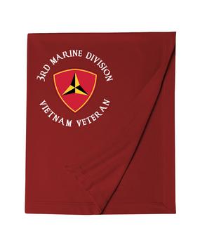 """3rd Marine Division """"Vietnam""""-C-   Embroidered Dryblend Stadium Blanket"""
