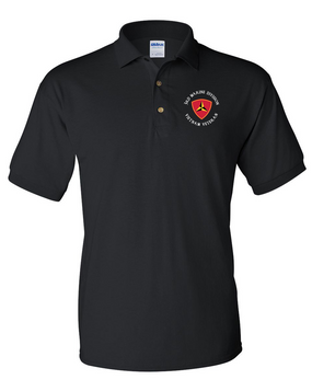 "3rd Marine Division ""Vietnam""-C-  Embroidered Cotton Polo Shirt"