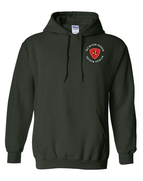 "3rd Marine Division ""Vietnam""-C-  Embroidered Hooded Sweatshirt"