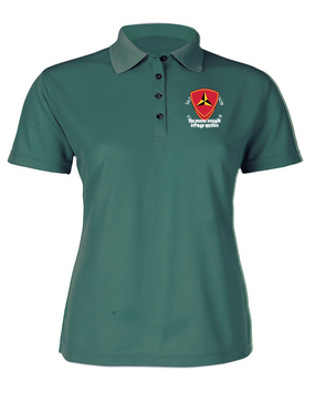 "3rd Marine Division ""Vietnam""-C-  Ladies Embroidered Moisture Wick Polo Shirt"