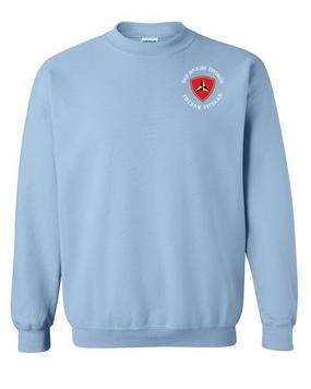 """3rd Marine Division """"Vietnam""""-C- Embroidered Sweatshirt"""